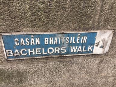 Bachelors Walk sign